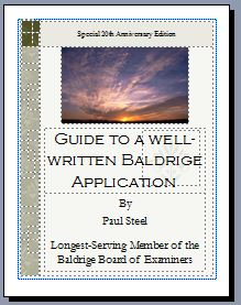 Guide to a Well-Written Baldrige application